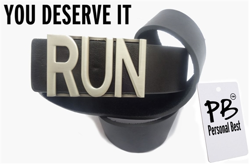 runners running belt buckle