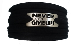 Never Ever Give Up running wristband wraps bracelets