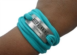 Keep running - sweat away bracelet