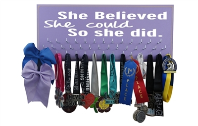 She believed she could - medal display