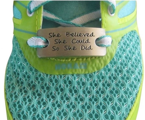 She believed she could - shoe charm