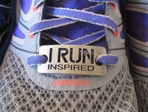 I run inspired - shoe tag