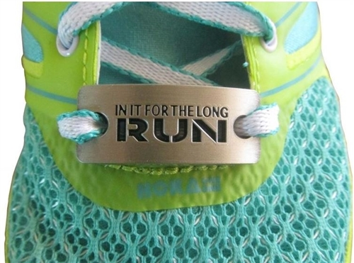 In it for the long run - shoe charm