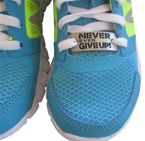 Never ever give up - shoe charm