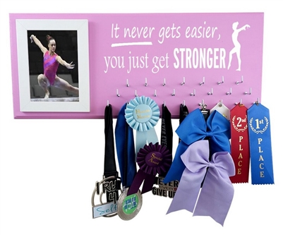 Gymnastics on the wall gymnast ribbons hanger holder display