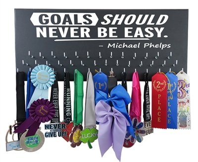 Swimming ribbons display - Goals Micheal Phelps