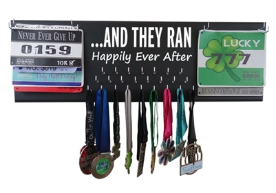 They ran happily ever after - medal holder