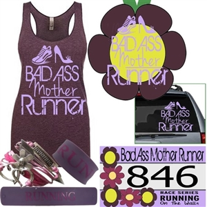 Bad Ass Mother Runner - Virtual Races runs medals