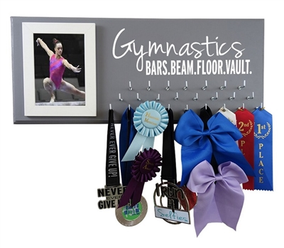 Gymnastics medals display Gymnastics