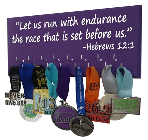Let us run with endurance ... - hebrews 12:1 - Medals holder