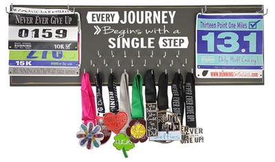 Every journey medals display rack