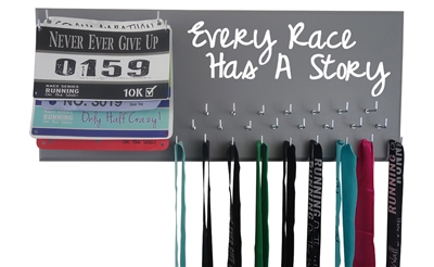 Every race has a story - medal hanger