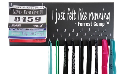 i just felt like running forrest gump medals holder hanger display