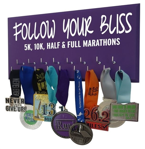 inspiring races medals display follow your bliss