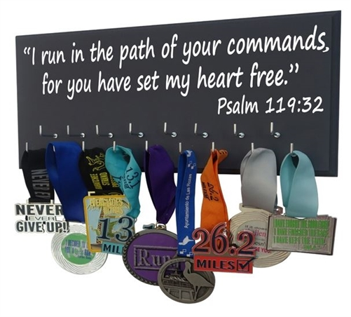 Psalm inspirational medals display