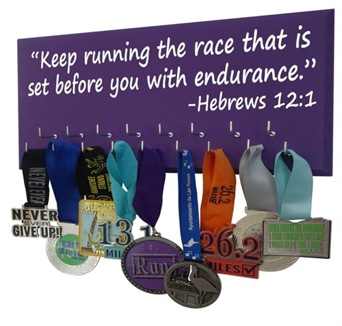 Keep running the race - medals holder