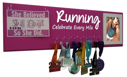 celebrate every mile - running medal hanger