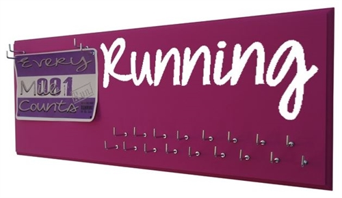 Running medals display rack - RUNNING