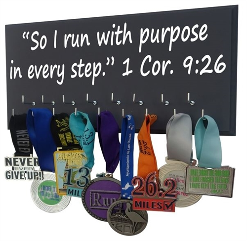 inspirational verse for medals holder  Cor. 1:19