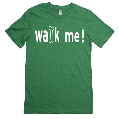 walk me dog bone tee shirt