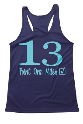 Half marathon tank top for women