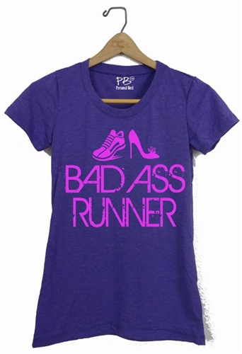 Athletic Fitted T shirt - Bad Ass Runner