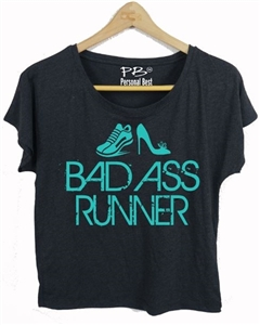 Fitness Slimming T shirt - Bad Ass Runner