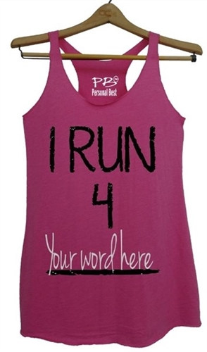 28a23d39 Personalized running tank top for women-I Run 4