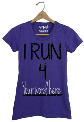 Personalized fitness top for women-I Run 4