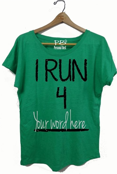 7d90d47c Personalized running t shirt for women-I Run 4. Larger Photo