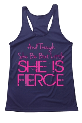Women's Athletic Tank - she is fierce