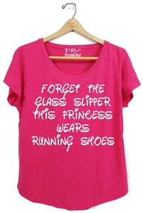 Women's Slimming Tee - Run Disney - Forget the glass slippers