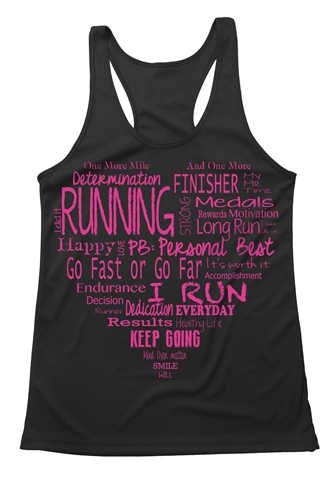 885bec668e5b8 Fitness tank top - The heart of running · Larger Photo