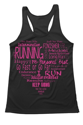 Fitness tank top - The heart of running