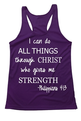 Women's Running tank - I can do all things