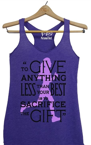 Women's Running Top - Prefontaine quote