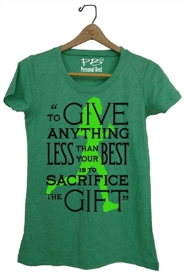 Women's  Athletic Tee- Prefontaine quote