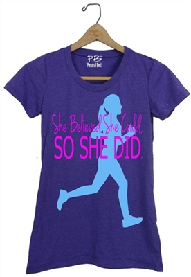 Running t-shirt she believed she could so she did
