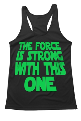 The force is strong with this one - Star Wars inspired running shirt - Darth Vader