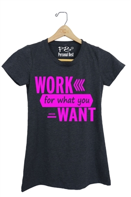Women's running tank top - work for what you want