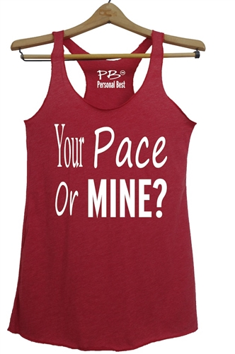 a982e72c Athletic Tank Top for women - Your pace or mine? Larger Photo