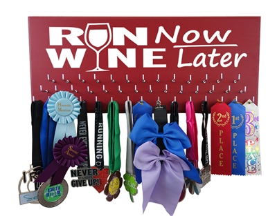 Running medals holder  Will run for wine