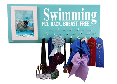Swimming awards display - SWIMMING