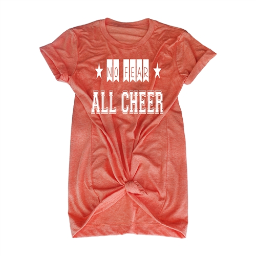 Cheer Tee Shirt - No Fear All Cheer - For Teen Cheerleaders