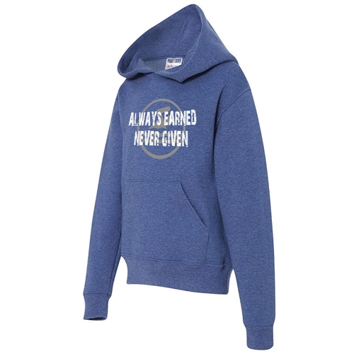 Swimming Hoodie - ALWAYS EARNED NEVER GIVEN- Athletic Sweatshirt for Men & Women