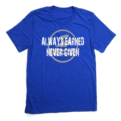 Swimming Tee Shirt - Always Earned Never Given - For Athletic Teen Girls and Boys