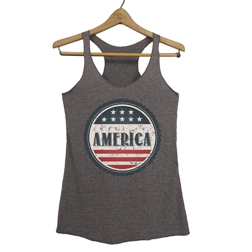 Made in America Tank - Everyday American Flag Top - for All Patriots who Love Our Country - America First
