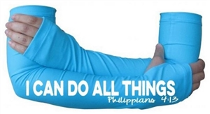 I can do all things - running arm warmers