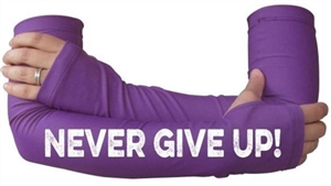 Never ever give up - running arm warmer