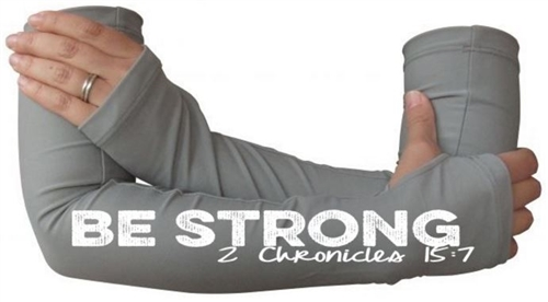 BE STRONG - inspirational arm warmers for runners